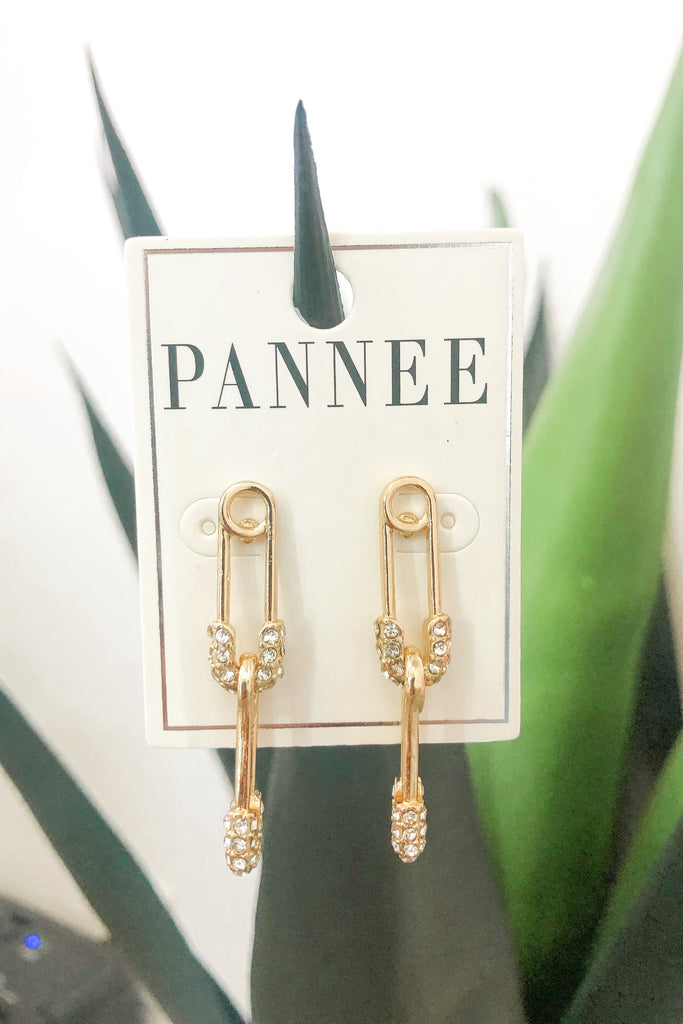 Simply Safety Pin Earrings