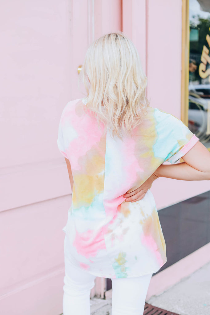 Let's Be Real Tie Dye Top