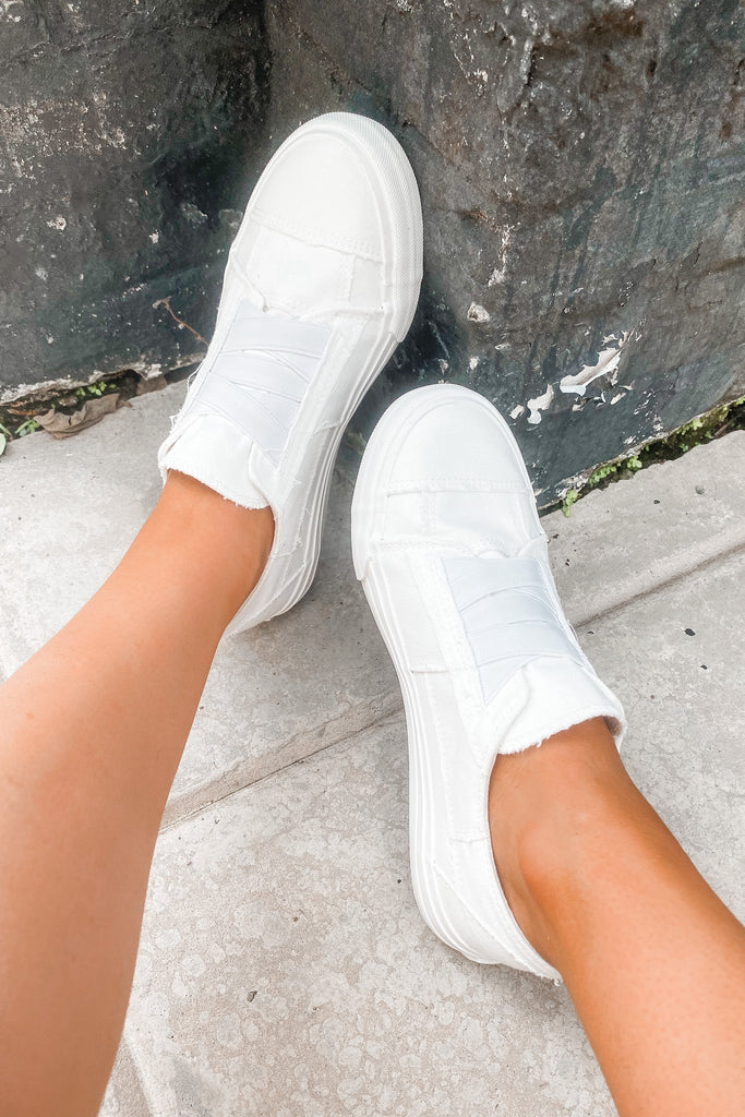 Aven Slip On Shoes - White - Slightly Imperfect