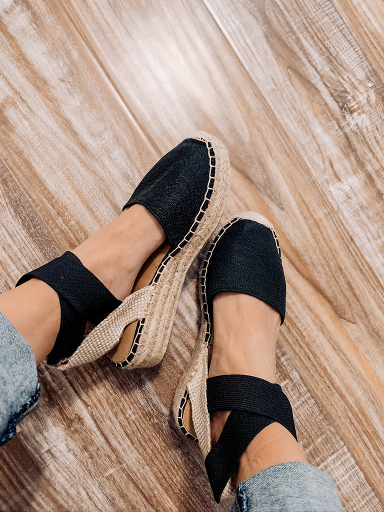 Miya Espadrille Sandals - Black