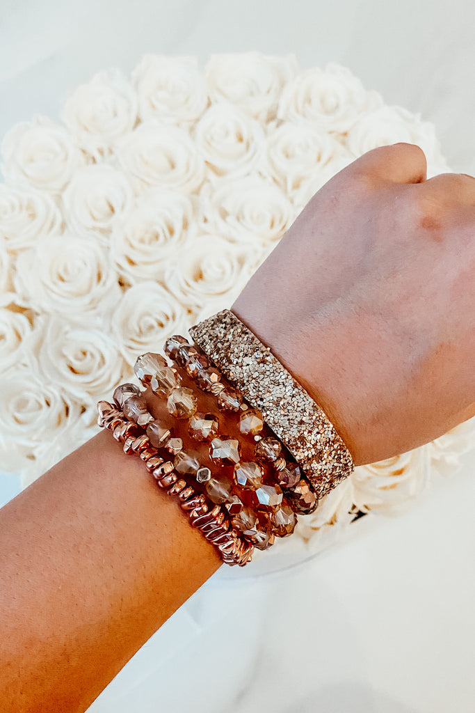 Maddox Stack Bracelet - Rose Gold