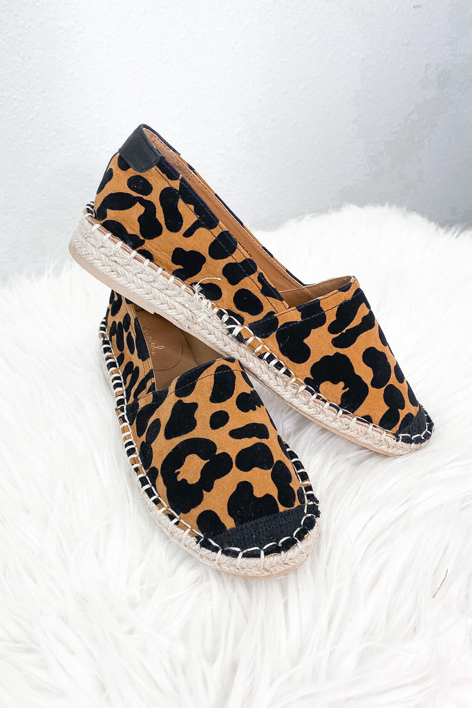Party Animal Espadrille Leopard Slip On
