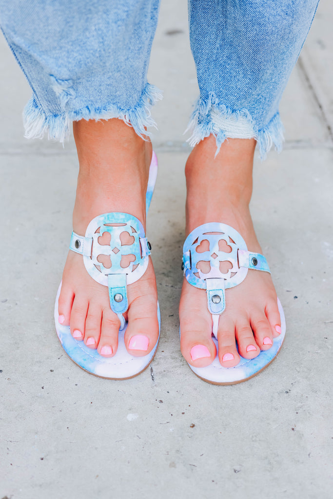 Lilly Tie Dye Sandals  - Pastel