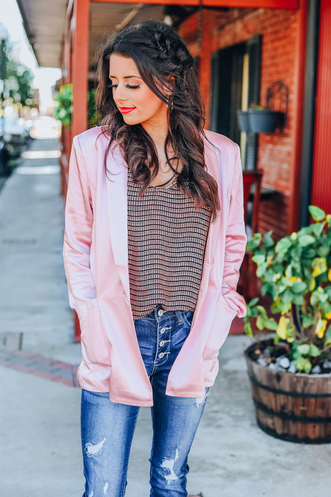 Tell Me About It Boyfriend Blazer - Mauve