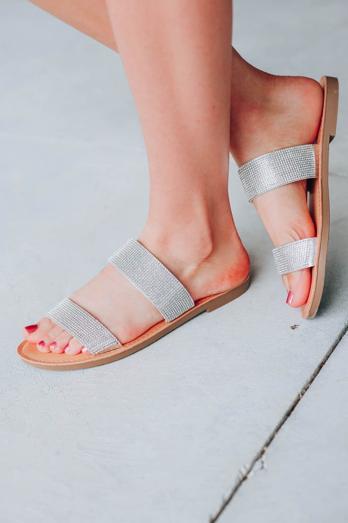 Walk on The Moon Sandals - Silver