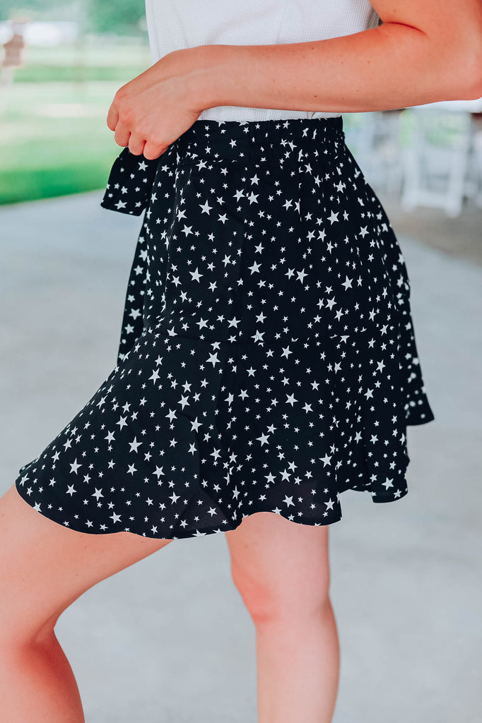 Star Light Skort - Black