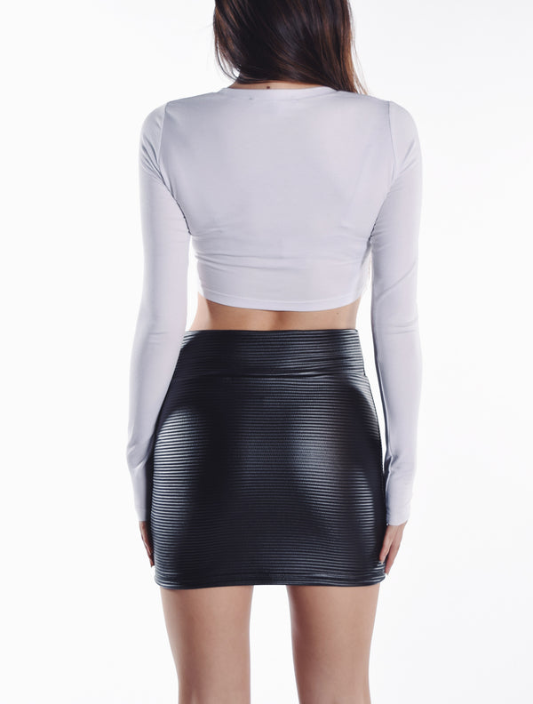 Jourdan Mini Skirt - Thin Rib