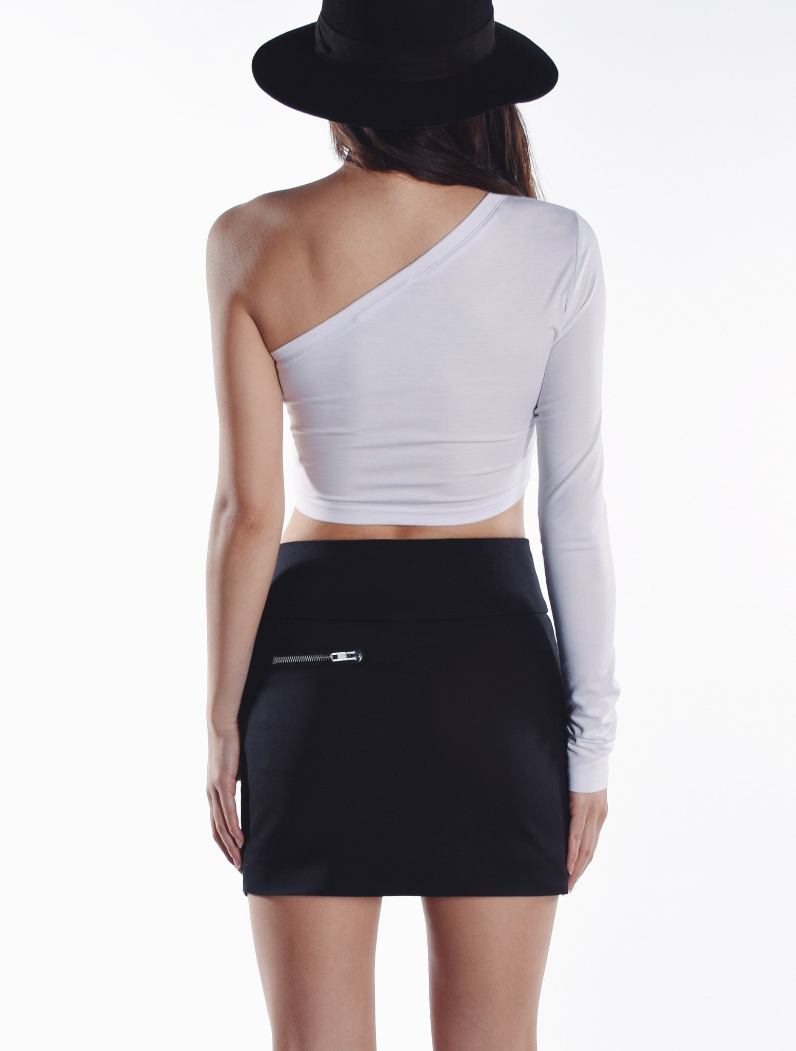 Optic Mesh Moto Skirt - Black
