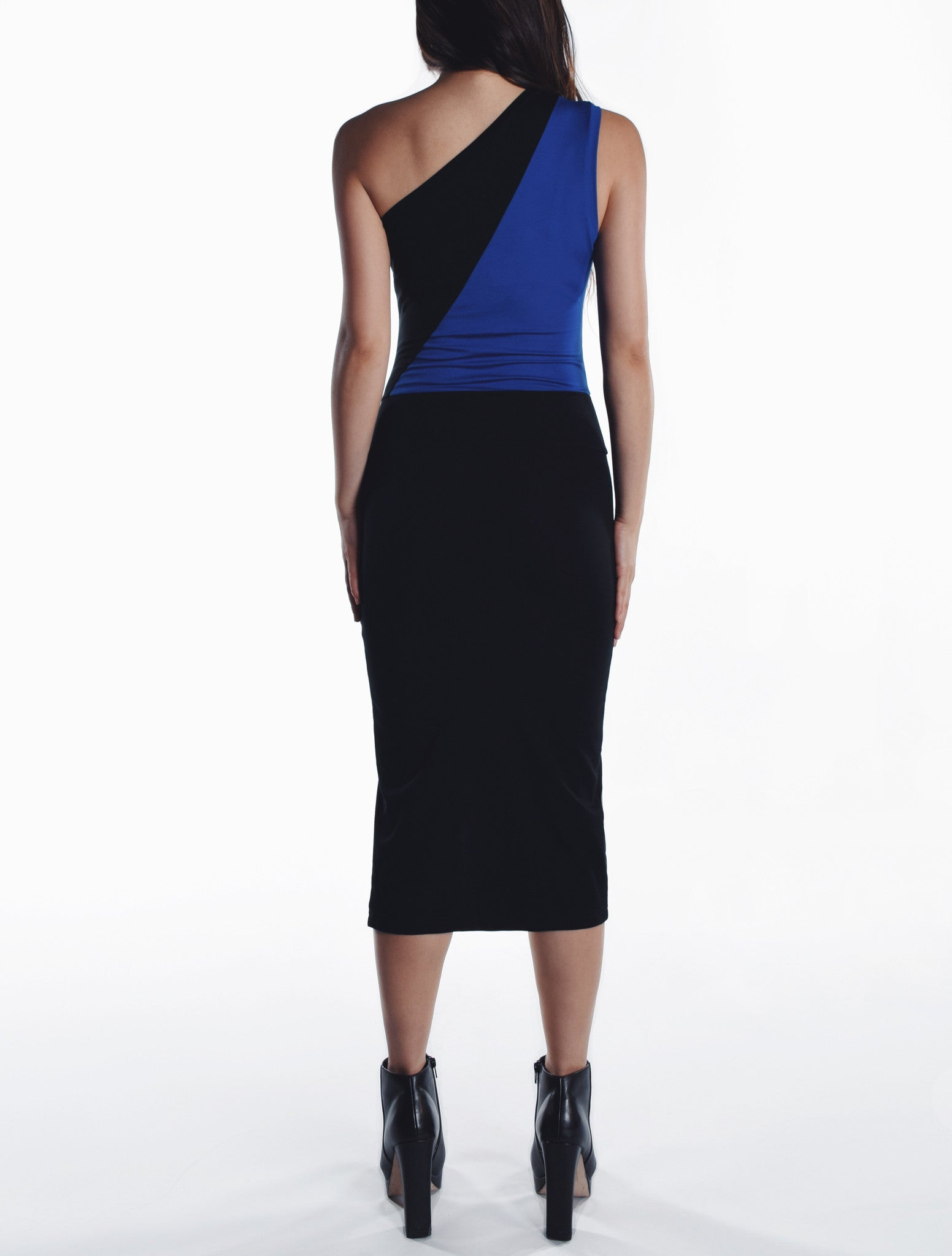 Asymmetric Slit Dress - Blue