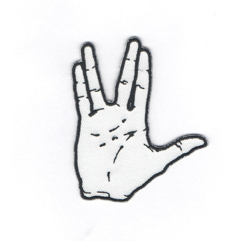 Star Trek Vulcan Salute Embroidered Sticker Patch