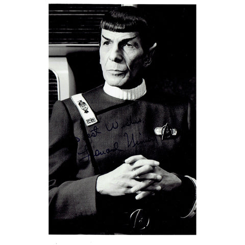 Leonard Nimoy, as Mr. Spock, Signed Autograph from His Personal Collection