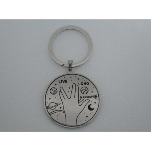 Live Long and Prosper Metal Keychain - Leonard Nimoy's Shop LLAP