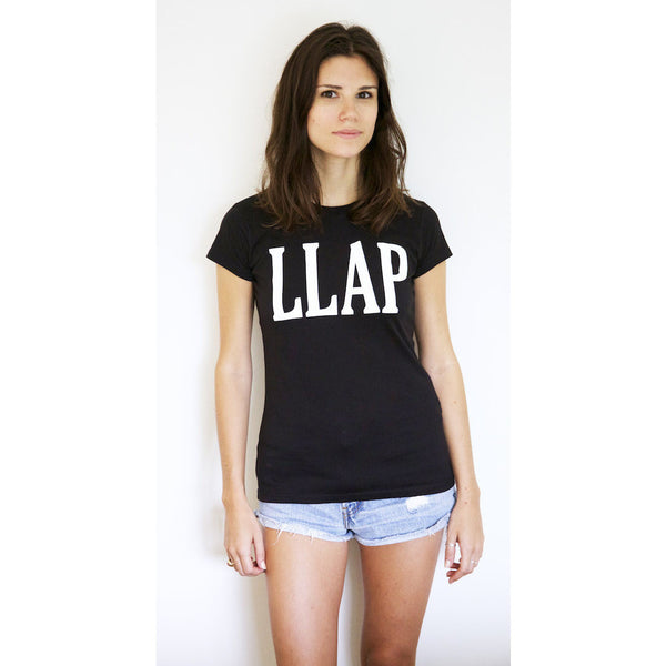 LLAP Crew Neck Tee in Black - Unisex and Ladies Sizes - Leonard Nimoy's Shop LLAP