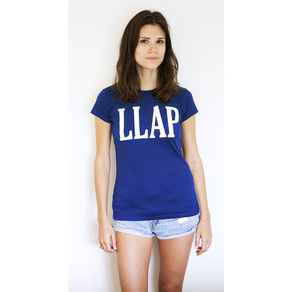 LLAP Crew Neck Tee in Royal Blue - Unisex and Ladies Sizes - Leonard Nimoy's Shop LLAP