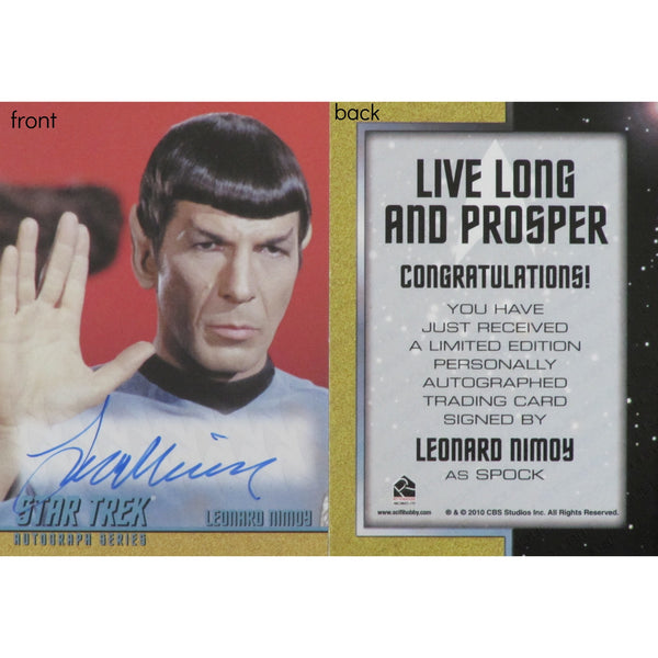 Mr. Spock, Star Trek, Limited Edition Trading Card Signed by Leonard Nimoy - Leonard Nimoy's Shop LLAP