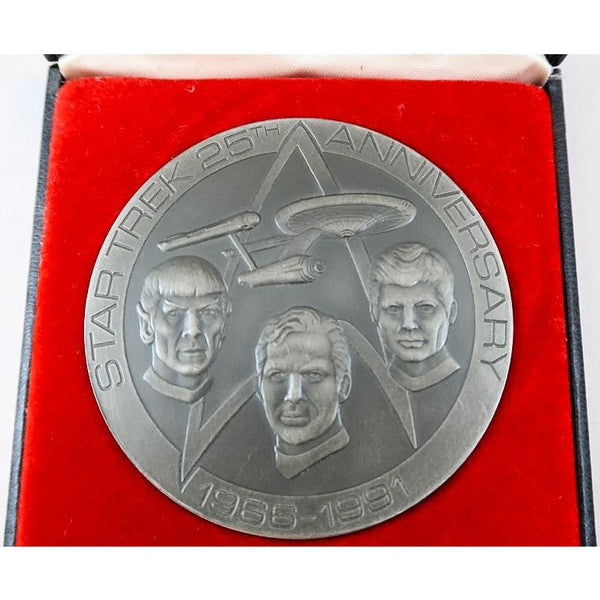 Star Trek 25th Anniversary Franklin Mint Coin 1991 From Leonard Nimoy's Personal Collection
