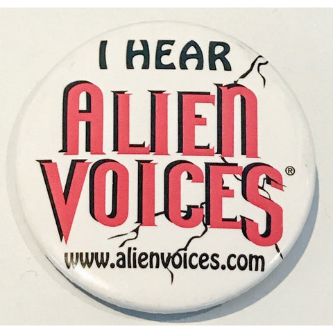 """Alien Voices"" Pin-Back Button From Leonard Nimoy's Personal Collection - Leonard Nimoy's Shop LLAP"