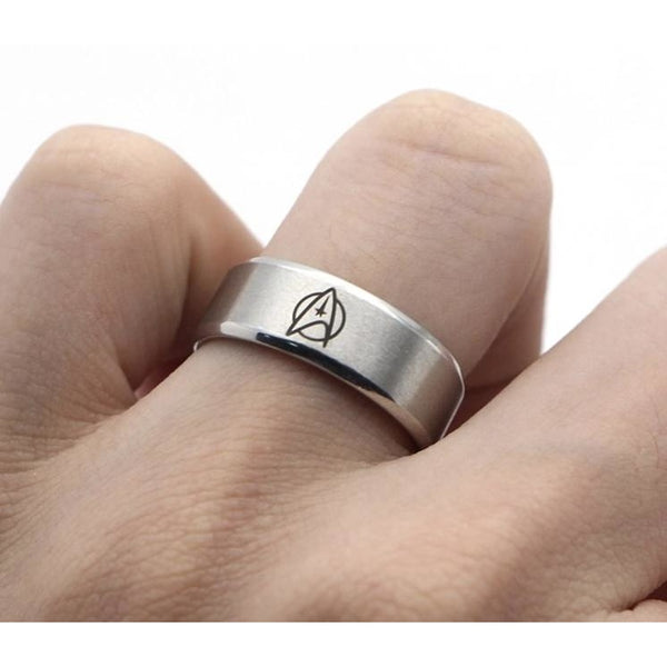 Men's Silver Ring - Star Trek Star Fleet Insignia - Leonard Nimoy's Shop LLAP