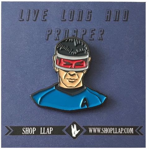 Spock With Red Visor Enamel Pin - Leonard Nimoy's Shop LLAP