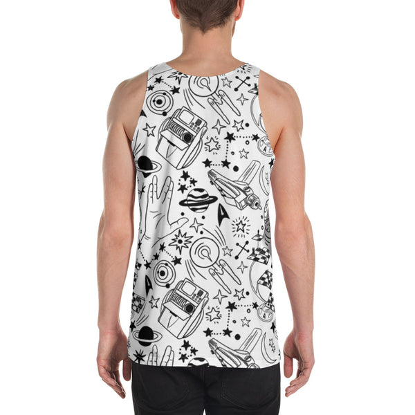 Sketch Style Unisex Tank Top