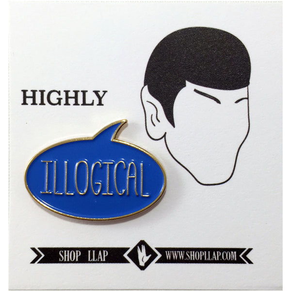 ILLOGICAL Lapel Pin - Leonard Nimoy's Shop LLAP