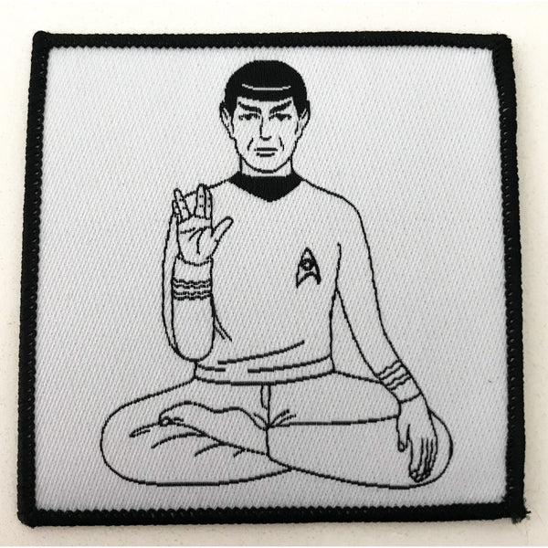Mr. Spock Sitting Pose Woven Patch - Leonard Nimoy's Shop LLAP
