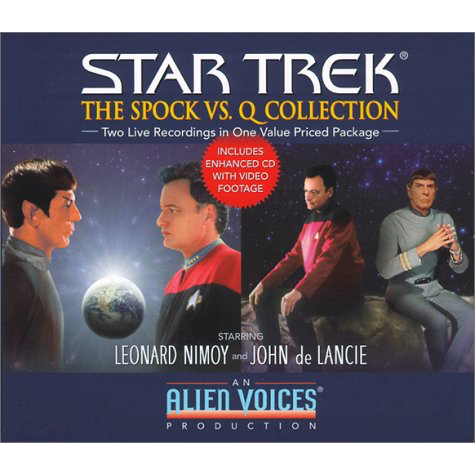 "Alien Voices - The ""Spock vs. Q"" Collection - Audio Gift Set - Collectable - Leonard Nimoy's Shop LLAP"