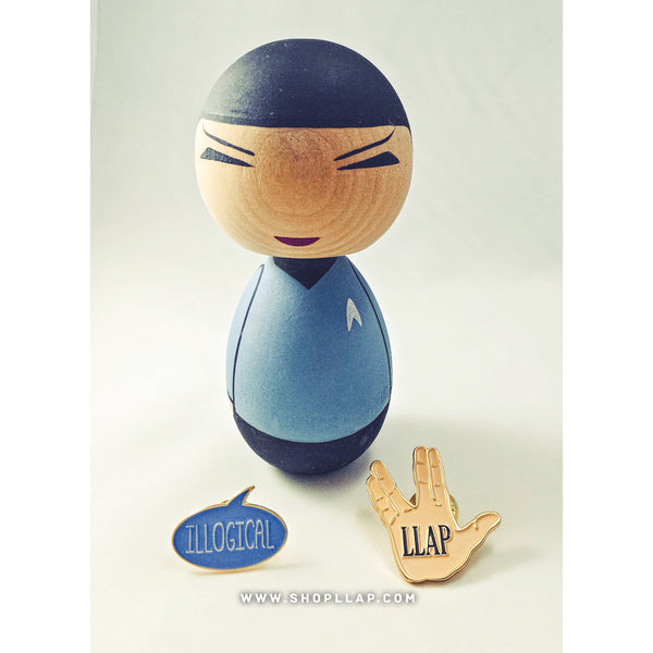 """Illogical"" Speech Bubble Enamel Pin - Leonard Nimoy's Shop LLAP"