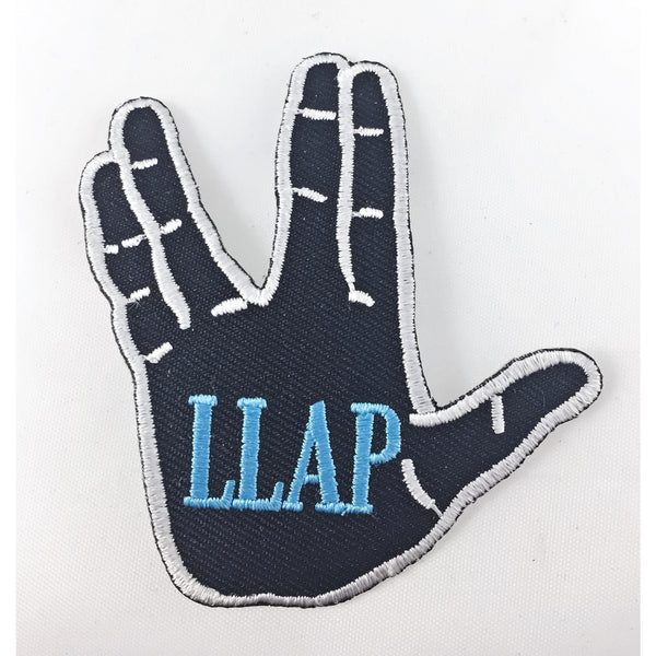 LLAP Embroidered Patch with Vulcan Salute - Leonard Nimoy's Shop LLAP