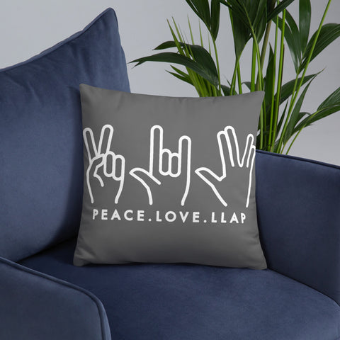 Peace Love LLAP Throw Pillow