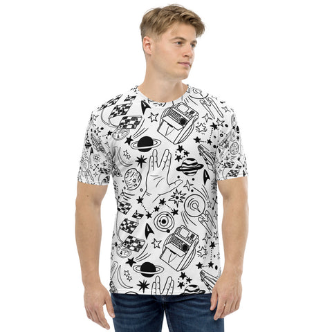 Men's Trekkie Sketch All-over T-shirt