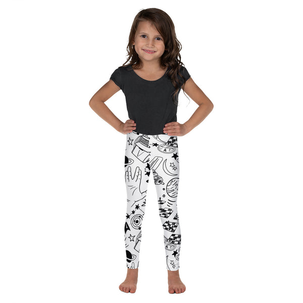 Kid's All-over Trekkie Sketch Print Leggings