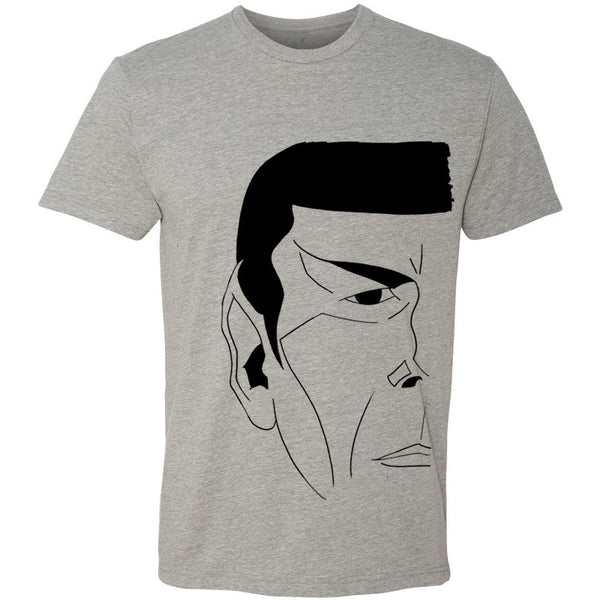 """The Vulcan"" Crew Neck Tee in Heather Grey - Unisex and Ladies Sizes - Leonard Nimoy's Shop LLAP"