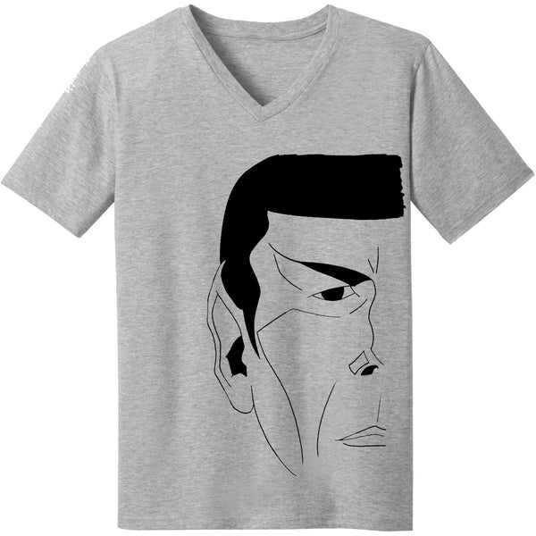 """The Vulcan"" V-Neck Tee in Heather Grey - Unisex and Ladies Sizes - Leonard Nimoy's Shop LLAP"