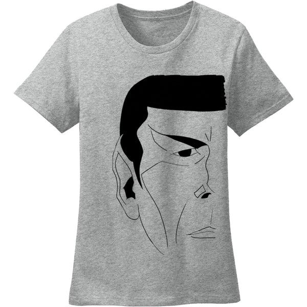"""The Vulcan"" Crewneck Tee in Heather Grey - Unisex and Ladies Sizes - Leonard Nimoy's Shop LLAP"