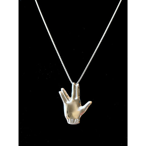 Vulcan Salute Necklace - Limited Quantity - Leonard Nimoy's Shop LLAP