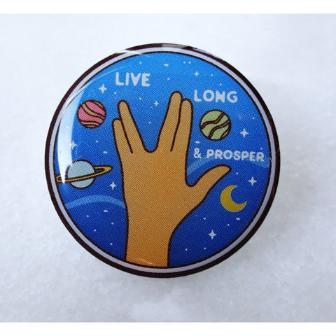 Live Long and Prosper Galaxy Lapel Pin - Leonard Nimoy's Shop LLAP