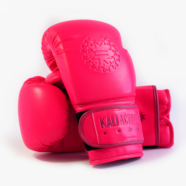 HOT PINK BOXING GLOVES