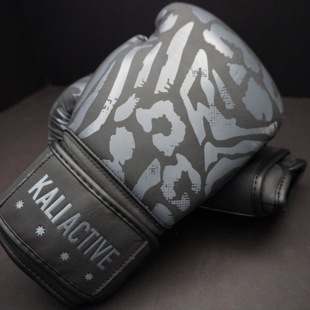 Matte Black Boxing Gloves
