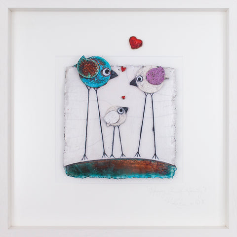 'Love Birds' ~ Family (z5) Lrg STUDIO CLEARANCE SPECIAL!