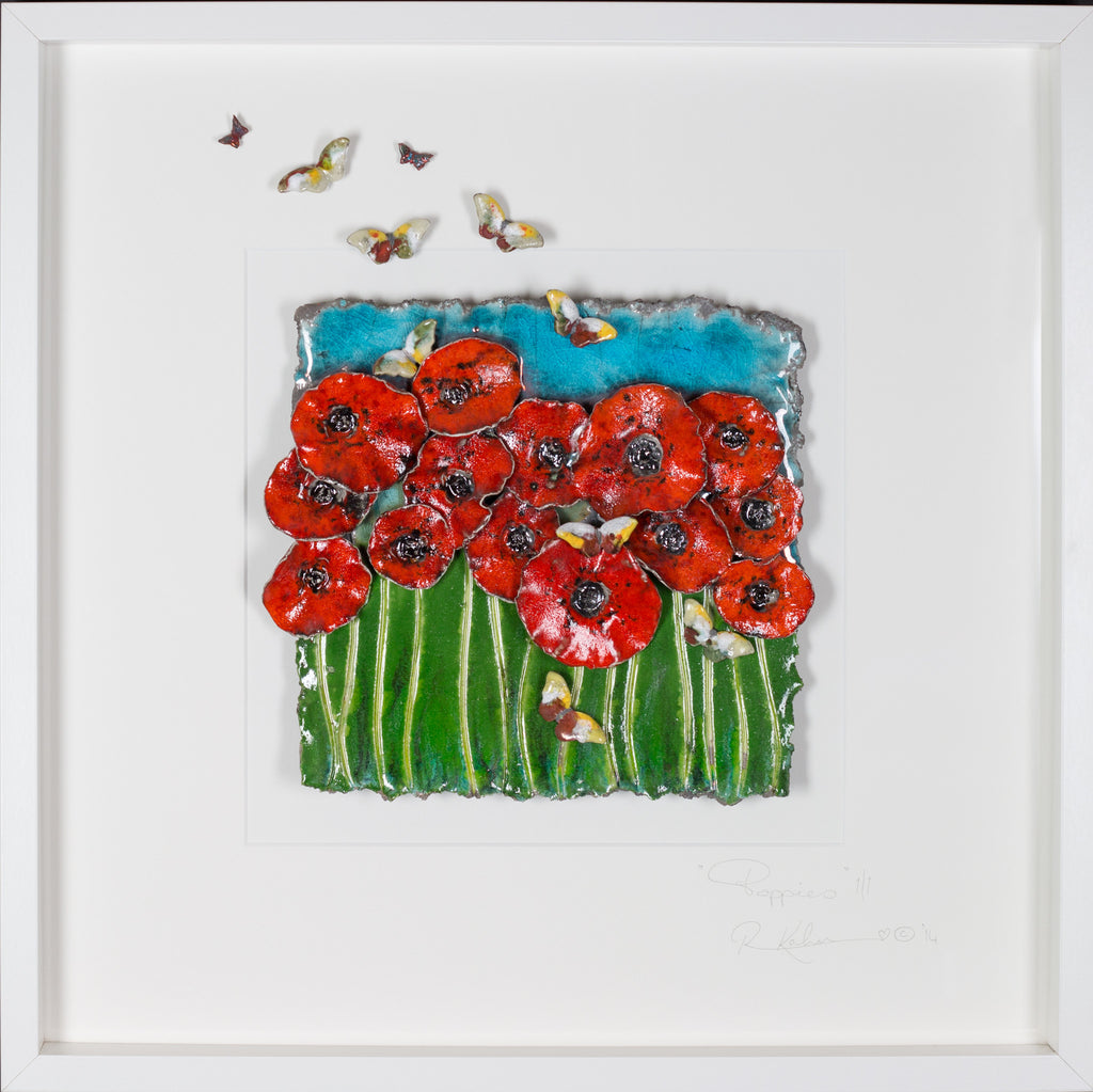 Poppies with Butterflies 2
