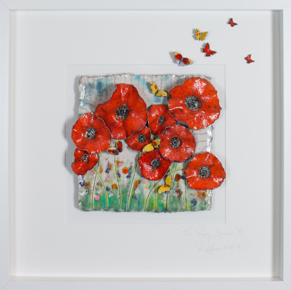 The Poppy Garden with butterflies Lrg