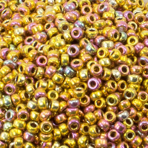 15/O Japanese Seed Beads Metallic 462R - Beads Gone Wild