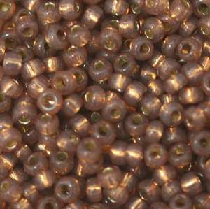 11/o Japanese Seed Bead 0581 npf Silverlined Alabaser - Beads Gone Wild