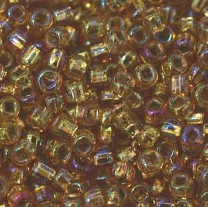 11/o Japanese Seed Bead 0634 Silverlined Rainbow - Beads Gone Wild
