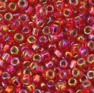 11/o Japanese Seed Bead 0638 Silverlined Rainbow - Beads Gone Wild