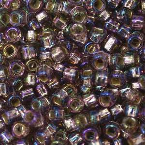 11/o Japanese Seed Bead 0640 Silverlined Rainbow - Beads Gone Wild