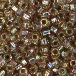 11/o Japanese Seed Bead 0640A Silverlined Rainbow - Beads Gone Wild