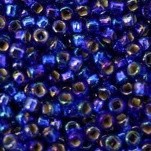 11/o Japanese Seed Bead 0641 Silverlined Rainbow - Beads Gone Wild