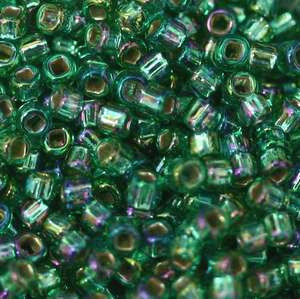 11/o Japanese Seed Bead 0645 Silverlined Rainbow - Beads Gone Wild